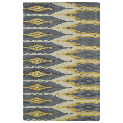 Hocca Hand-Tufted Graphite Area Rug Rug Size: 5' x 8'
