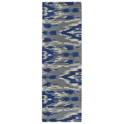 Hocca Hand-Tufted Blue Area Rug Rug Size: Runner 26 x 8