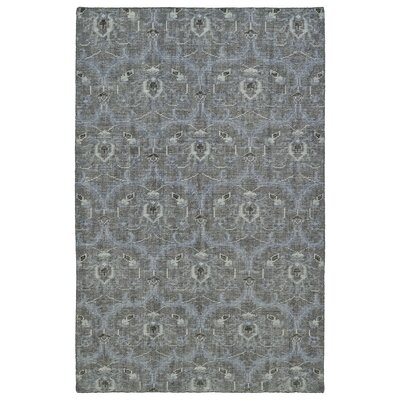 Masmoudi Hand-Knotted Graphite Area Rug Rug Size: 56 x 86