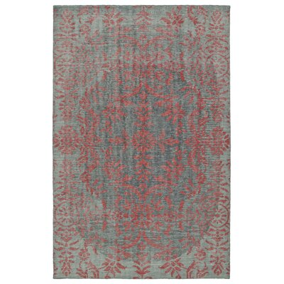 Masmoudi Hand-Knotted Pink Area Rug Rug Size: 9 x 12