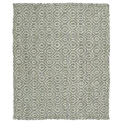 Targa Hand-Loomed Grey Area Rug Rug Size: 3 x 5