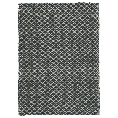 Carolus Hand-Loomed Charcoal Area Rug Rug Size: Rectangle 8 x 10