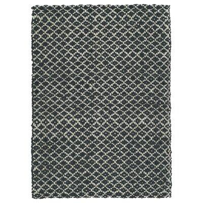 Targa Hand-Loomed Charcoal Area Rug Rug Size: 3 x 5