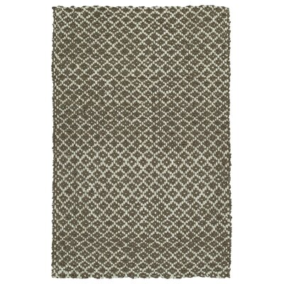 Targa Hand-Loomed Brown Area Rug Rug Size: 18 x 26