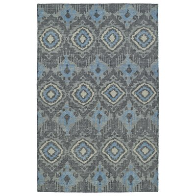 Masmoudi Hand-Knotted Charcoal Area Rug Rug Size: 56 x 86