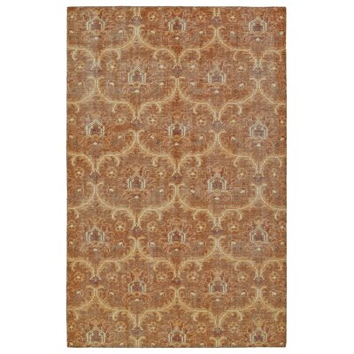 Masmoudi Hand-Knotted Paprika Area Rug Rug Size: 56 x 86