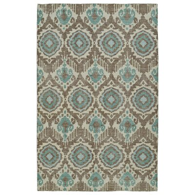 Cade Hand-Knotted Light Brown Area Rug Rug Size: 56 x 86