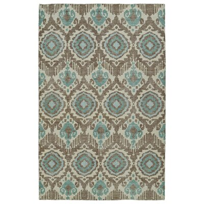 Cade Hand-Knotted Light Brown Area Rug Rug Size: 9 x 12
