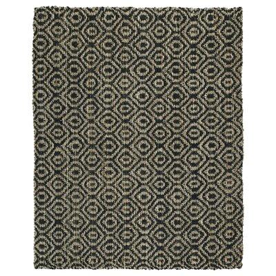 Targa Hand-Loomed Black Area Rug Rug Size: 5 x 76