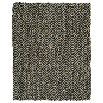 Carolus Hand-Loomed Rectangle Black Area Rug Rug Size: 8 x 10