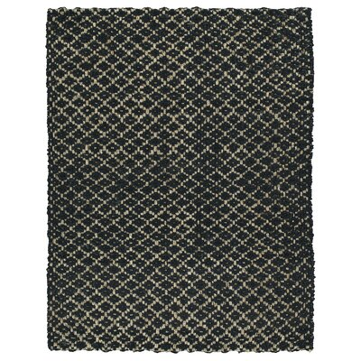 Carolus Hand-Loomed Black Area Rug Rug Size: Rectangle 8 x 10