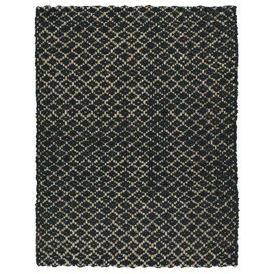 Carolus Hand-Loomed Black Area Rug Rug Size: 8 x 10