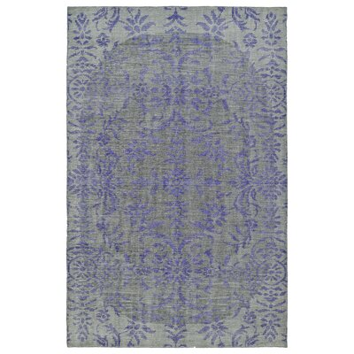 Masmoudi Hand-Knotted Purple/Gray Area Rug Rug Size: 56 x 86
