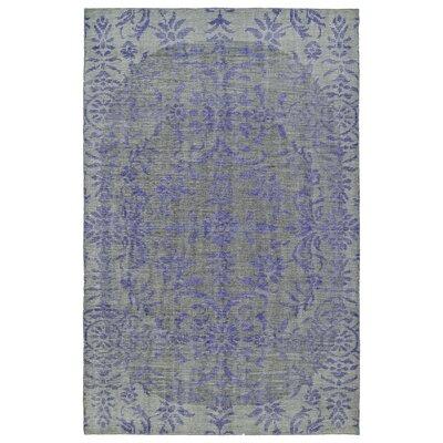 Masmoudi Hand-Knotted Purple Area Rug Rug Size: 5'6