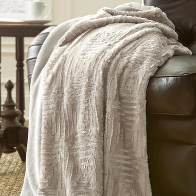 Dillon Luxury Throw Blanket Color: White Sand