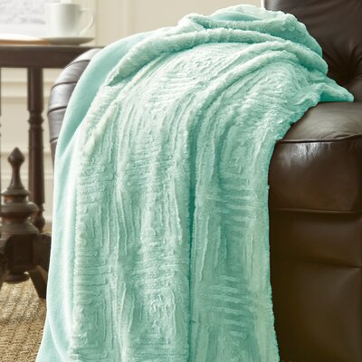 Ouasse Luxury Throw Blanket Color: Soft Jade