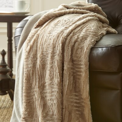 Ouasse Luxury Throw Blanket Color: Pumice Stone