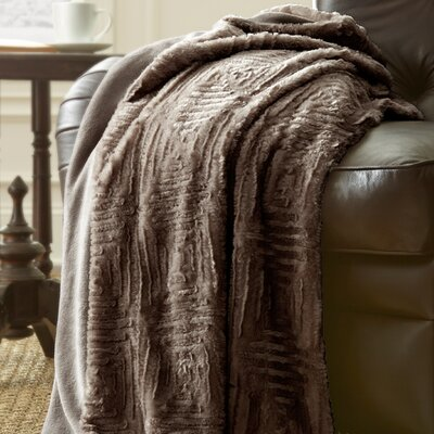 Ouasse Luxury Throw Blanket Color: Deep Taupe