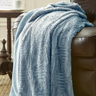 Ouasse Luxury Throw Blanket Color: Pearl Blue