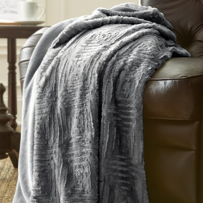 Ouasse Luxury Throw Blanket Color: Dark Gray