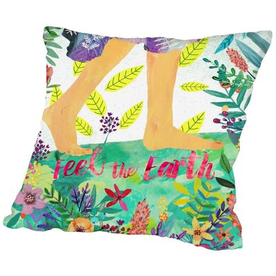 Mia Charro Feel the Earth 2 Throw Pillow