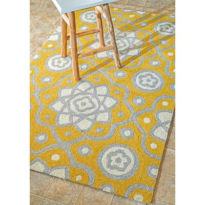 Prescott Yellow Indoor/Outdoor Area Rug Rug Size: Rectangle 76 x 96