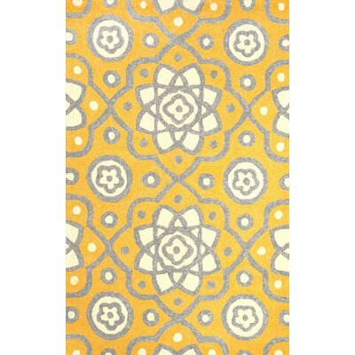 Ayer Yellow Outdoor Area Rug Rug Size: 5 x 8