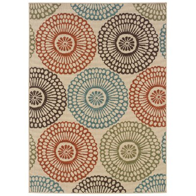 Douane Orange/Brown Area Rug Rug Size: Rectangle 710 x 1010