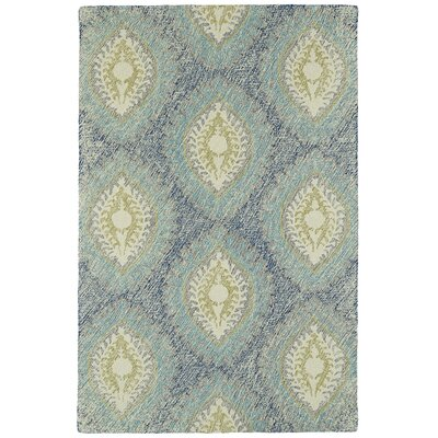 Carrillo Hand-Tufted Blue Area Rug Rug Size: 36 x 56