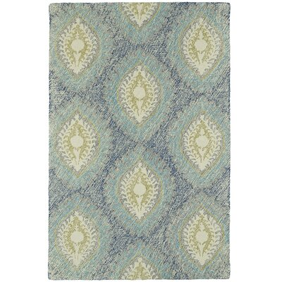 Carrillo Hand-Tufted Blue Area Rug Rug Size: 5 x 9