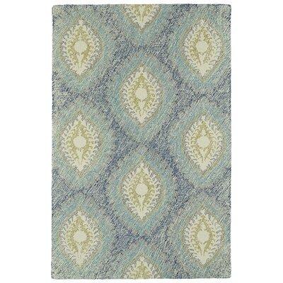 Carrillo Hand-Tufted Blue Area Rug Rug Size: 8 x 10