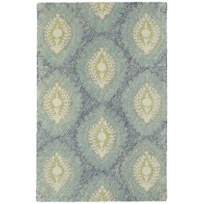 Carrillo Hand-Tufted Blue Area Rug Rug Size: Rectangle 36 x 56