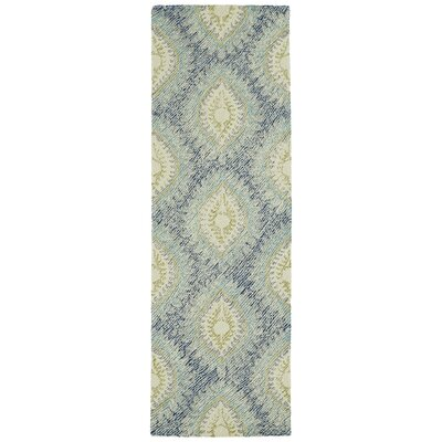 Habous Hand-Tufted Blue Area Rug Rug Size: Runner 26 x 8
