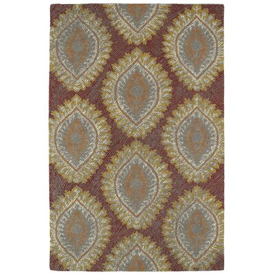 Carrillo Hand-Tufted Red Area Rug Rug Size: Rectangle 2 x 3