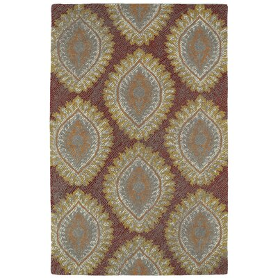 Carrillo Hand-Tufted Red Area Rug Rug Size: Rectangle 36 x 56