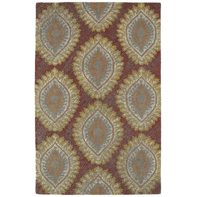 Carrillo Hand-Tufted Red Area Rug Rug Size: 5 x 9