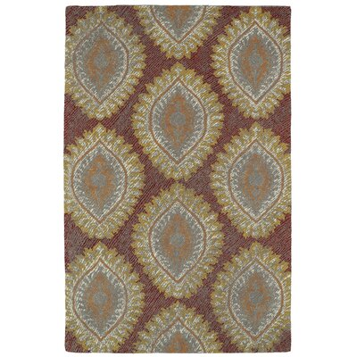 Carrillo Hand-Tufted Red Area Rug Rug Size: Rectangle 8 x 10