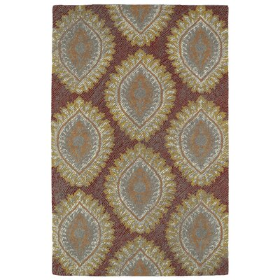 Habous Hand-Tufted Red Area Rug Rug Size: 9 x 12