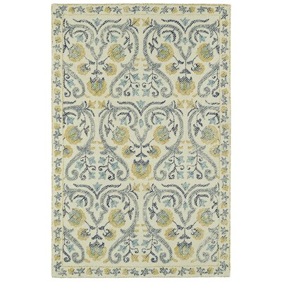 Carrillo Hand-Tufted Beige/Yellow Area Rug Rug Size: Rectangle 2 x 3