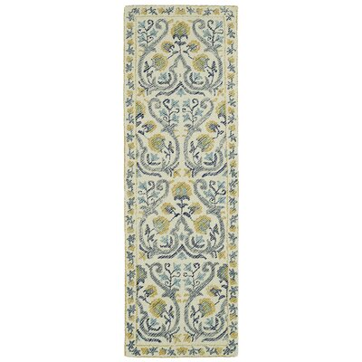 Habous Hand-Tufted Beige/Yellow Area Rug Rug Size: Runner 26 x 8