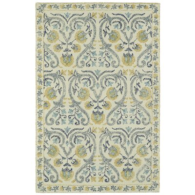 Carrillo Hand-Tufted Beige/Yellow Area Rug Rug Size: 36 x 56