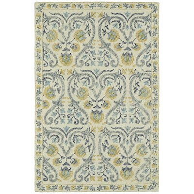 Habous Hand-Tufted Beige/Yellow Area Rug Rug Size: 5 x 9