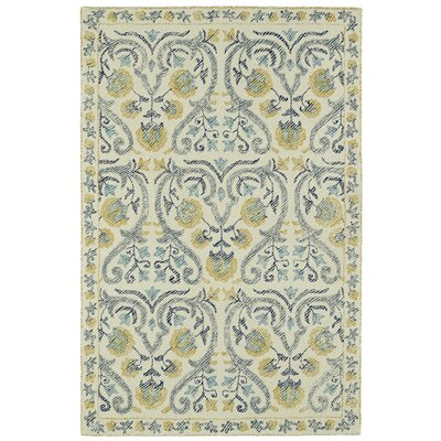 Carrillo Hand-Tufted Beige/Yellow Area Rug Rug Size: Rectangle 8 x 10