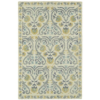 Carrillo Hand-Tufted Beige/Yellow Area Rug Rug Size: 9 x 12