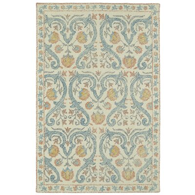 Carrillo Hand-Tufted Beige/Blue Area Rug Rug Size: 9 x 12