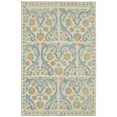 Carrillo Hand-Tufted Beige/Blue Area Rug Rug Size: Rectangle 5 x 9