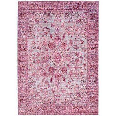 Esmeyer Pink Area Rug Rug Size: 5 x 8