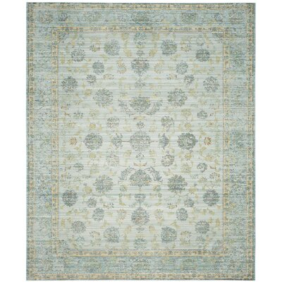 Esmeyer Light Blue/Turquoise Area Rug Rug Size: 4 x 6