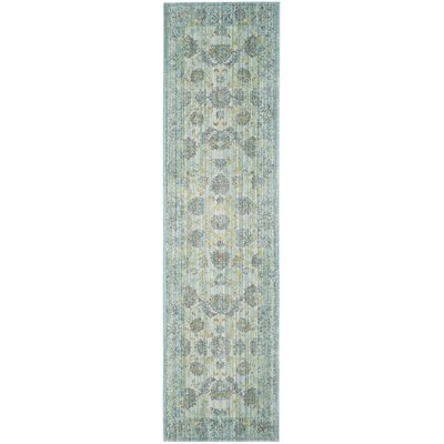 Esmeyer Light Blue/Turquoise Area Rug Rug Size: Runner 23 x 12