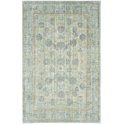 Laqdim Light Blue/Turquoise Area Rug Rug Size: 5 x 8
